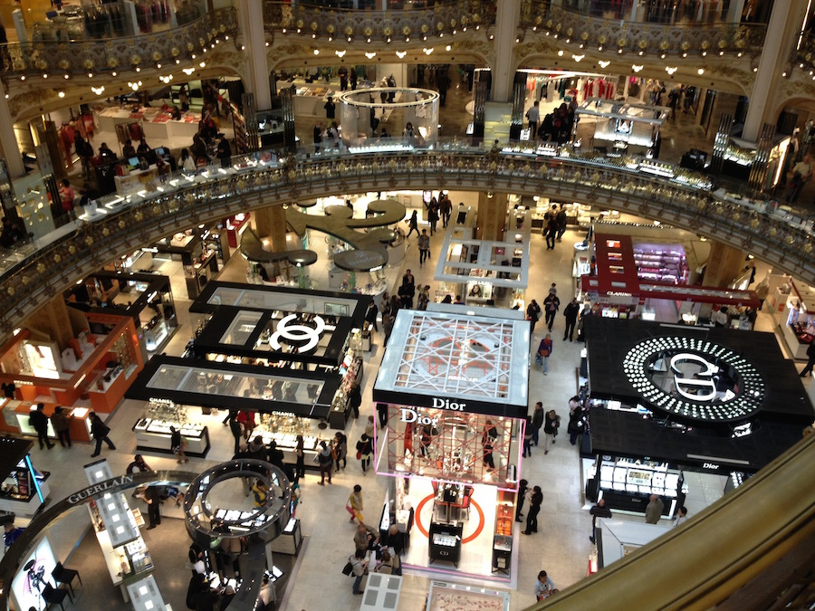 Gallery Lafayette Paris from Above