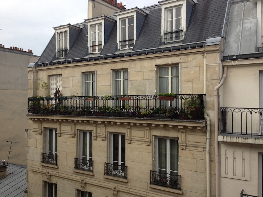 Paris - Hotel Angely - terrace view