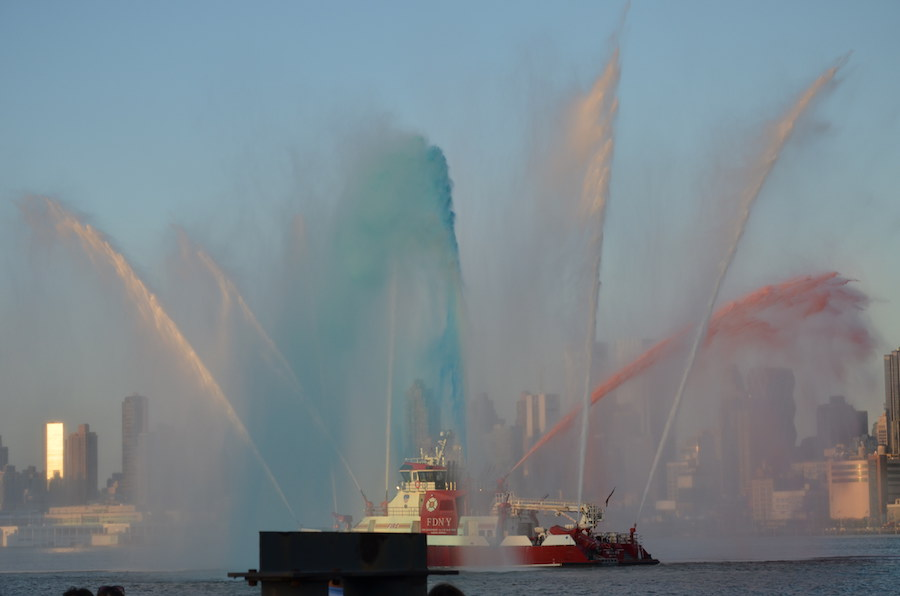 FDNY Red White Blue Water July 4th