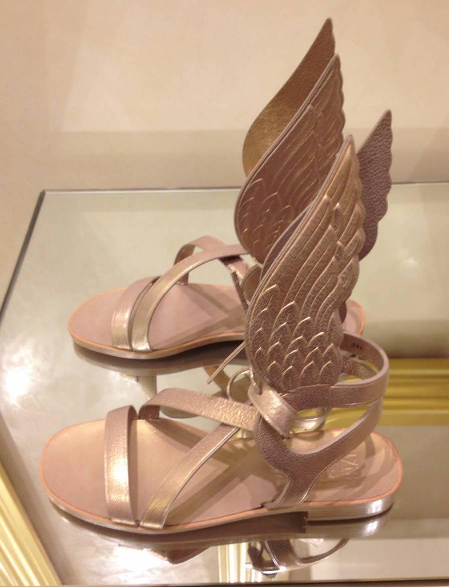Ferragmo Gold Wing Sandals