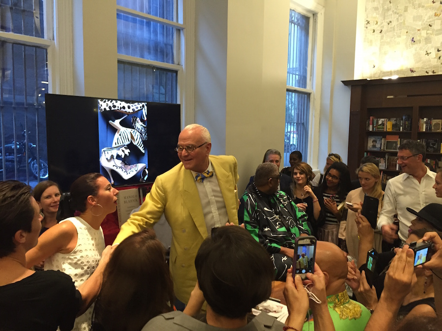 Manolo Blahnik and Andre Leon Talley at Rizzoli